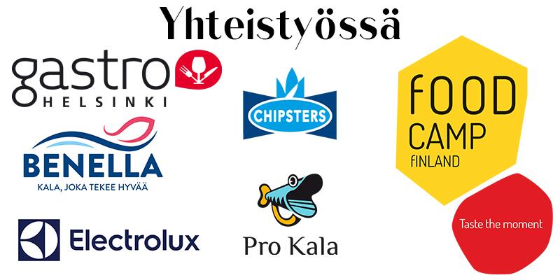 Yhteistyössä: Gastro Helsinki, Benella, Electrolux, Chipsters, Pro Kala, Food Camp Finland