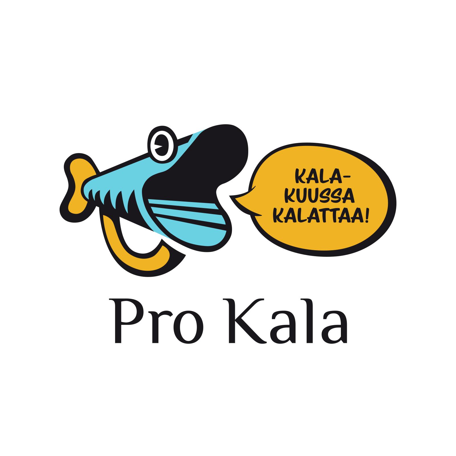 Pro Kalan logo ja teksti: Kalakuussa kalattaa